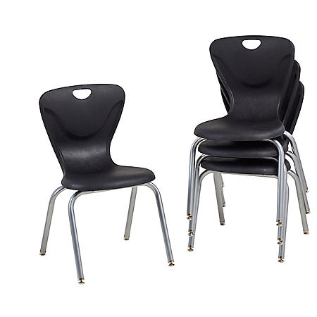 """18"""" Contour Chair Swivel Glide, 4-Pack (Assorted Colors)"""
