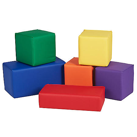 SoftScape Big Block Set, 6-Piece - Assorted