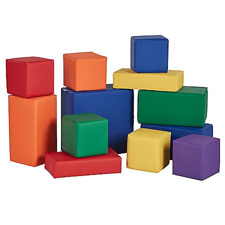 SoftScape Big Block Set, 12-Piece - Assorted