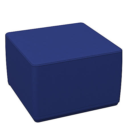 "SoftScape 18"" Square Junior Ottoman 12"" Height - Blue"