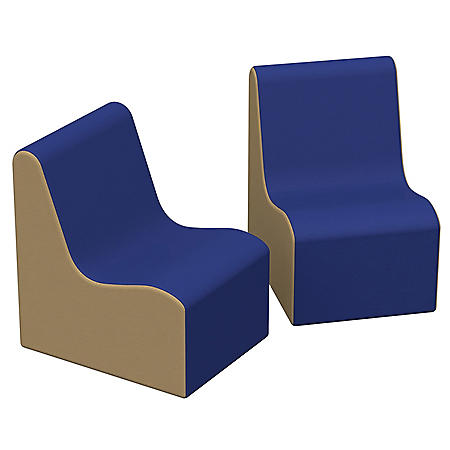SoftScape Wave Toddler Chair, 2-Pack - Blue/Sand