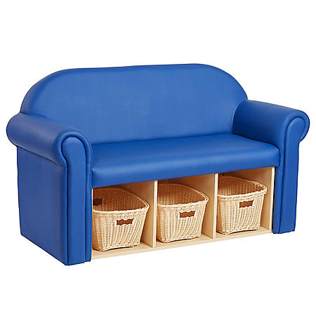Little Lux Youth Sofa with Bins (Blue)