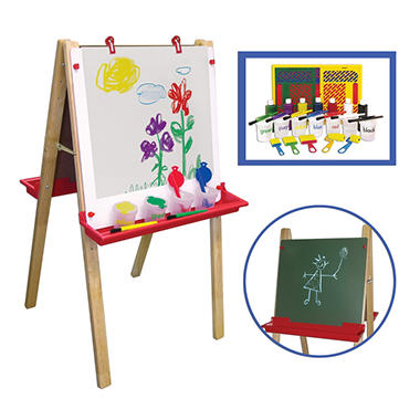 ECR4Kids Easel with Small Paint Crate Set
