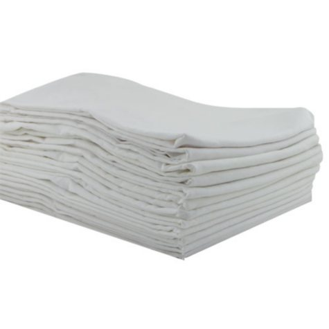 ECR4Kids Standard Kiddie Kot Sheets, White - 12 pack