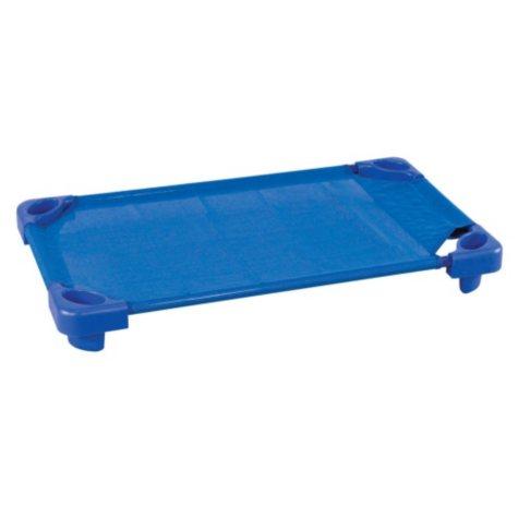 ECR4Kids Unassembled Stackable Toddler Cots, Blue- 5 pack