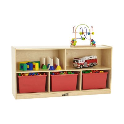 ECR4Kids 5-Section Wood Storage Cabinet Natural Wood  sc 1 st  Samu0027s Club & Office Storage - Samu0027s Club