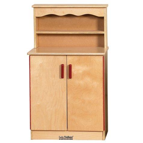ECR4Kids Dramatic Play Wood Cupboard