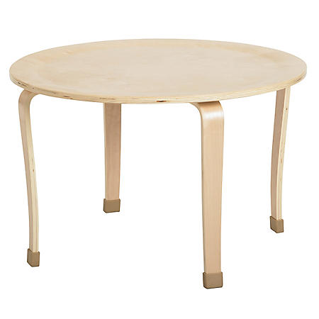 "ECR4Kids 30"" Round Bentwood Table, Select Size"
