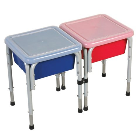 2 Station Square Sand & Water Table with Lids