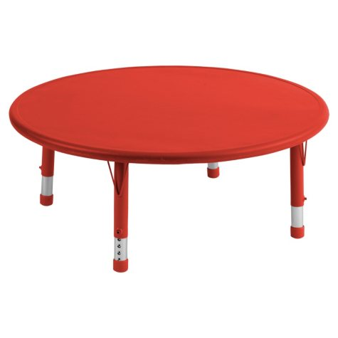 "ECR4Kids 45"" Round Resin Adjustable Activity Table, Select Color"
