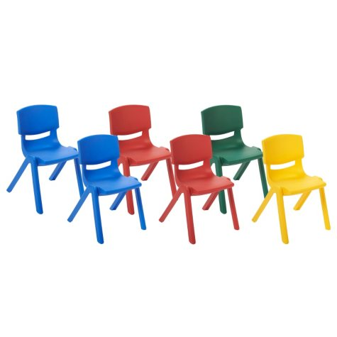 """ECR4Kids 10"""" Resin Chair, Select Color - 6 pack"""