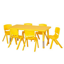 "ECR4Kids 48"" Rectangular Resin Table with Matching 14"" Chairs, Select Color"