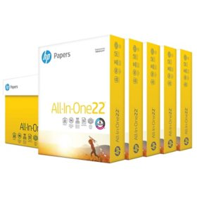 "HP All-in-One Copy Paper, 22lb, 96 Bright, 8 1/2"" x 11"", 2,500 Sheets"