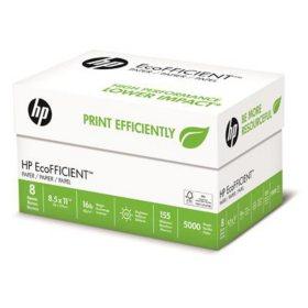 """HP EcoFFICIENT Copy Paper, 16lb, 92 Bright, 8 1/2"""" x 11"""", 5,000 Sheets"""