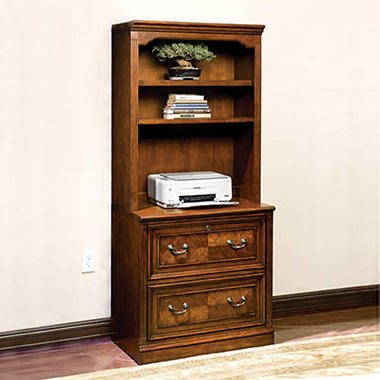 Brookhaven Collection Lateral File with Hutch