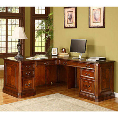 Whalen Furniture Brookhaven Computer Return Desk