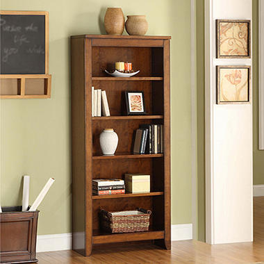 Whalen Mission Hills Collection 5 Shelf Bookcase
