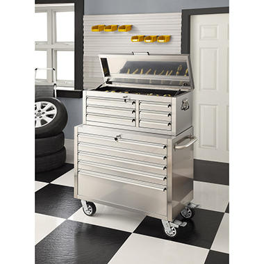 11 Drawer Stainless-Steel Toolbox