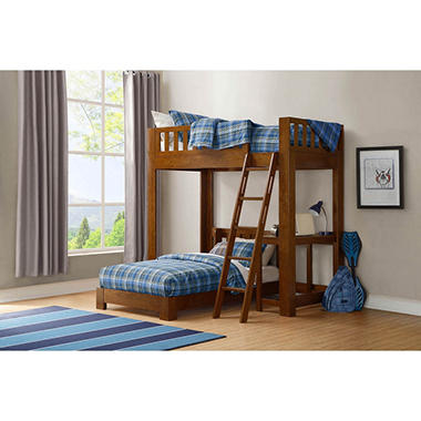 Luke Twin Over Twin Bunk Bed With Desk Sam S Club