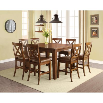 Kayden Counter Height Table and Chairs 9 Piece Dining Set Sams