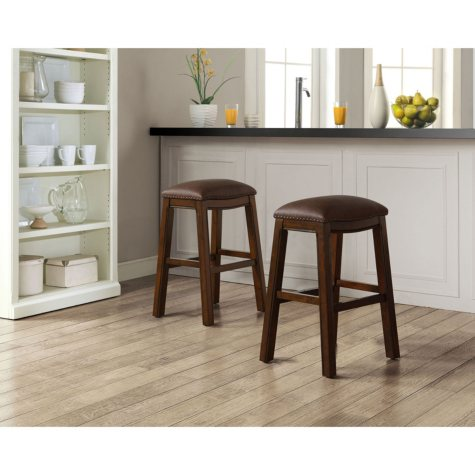 Asher Saddle Bar Stools, Set of 2