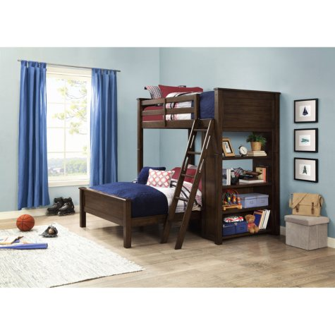 Landon Twin-Over-Full Loft Bunk Bed