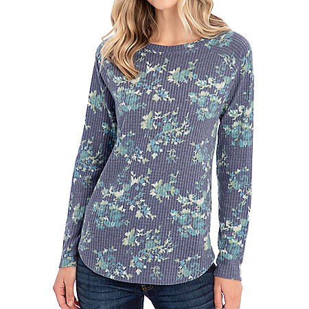 Peace and Pearls Waffle Knit Tunic Long-Sleeve