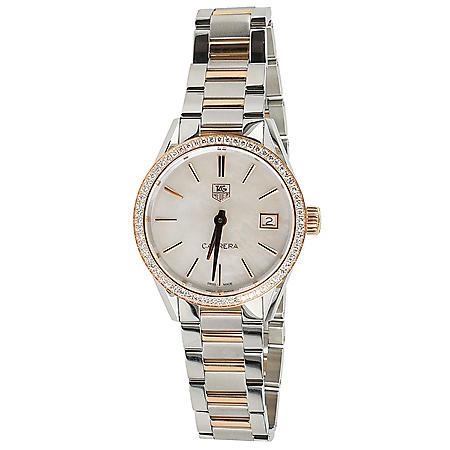 Two-Tone Carrera Women's Watch by Tag Heuer