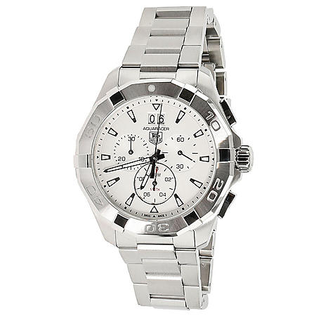 Aquaracer Chronograph Silver Dial Men's Watch by Tag Heuer