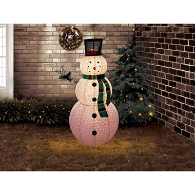 6 ft pre lit outdoor pop up snowman