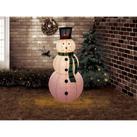 6 ft Pre-Lit Outdoor Pop-Up Snowman