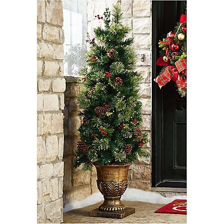5' Pre-Lit Premium Topiary