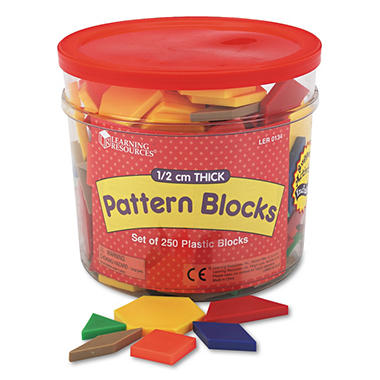 Pattern Blocks - 6 Shapes/Colors