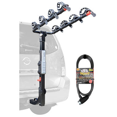 Allen Sports Premier Hitch Mounted 4 Bike Carrier With 6 Onguard