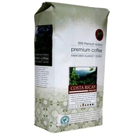 Java Trading Co. Costa Rican Whole Bean Coffee - 2 lbs.