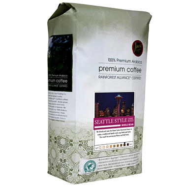 Java Trading Co. Seattle Style Dark Whole Bean Coffee - 2 lbs.