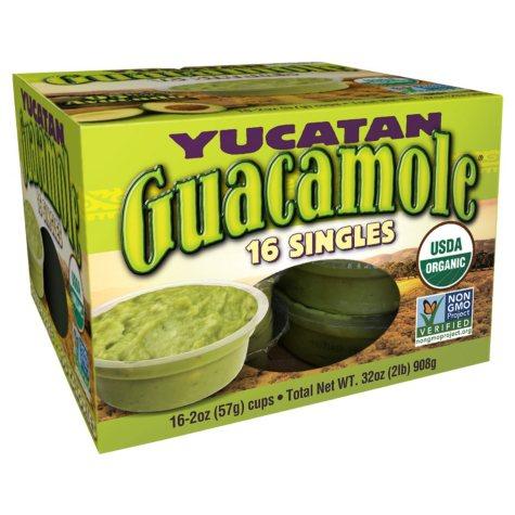 Yucatan Organic Guacamole Singles (2 oz., 16 ct.)