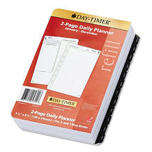 Day-Timer Reference Dated Two-Page-per-Day Organizer Refill, 5-1/2 x 8-1/2 - 2013