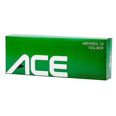 Ace Menthol 10 100s Box (20 ct., 10 pk)
