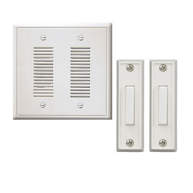 NICOR Wired Door Bell In Wall Chime Kit   2 Lighted Buttons