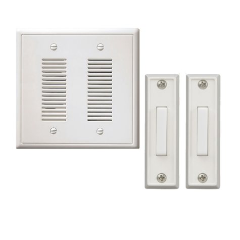 NICOR Wired Door Bell In-Wall Chime Kit - 2 Lighted Buttons