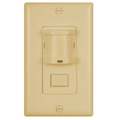 NICOR Occupancy Sensor with Passive Infrared Wall Switch