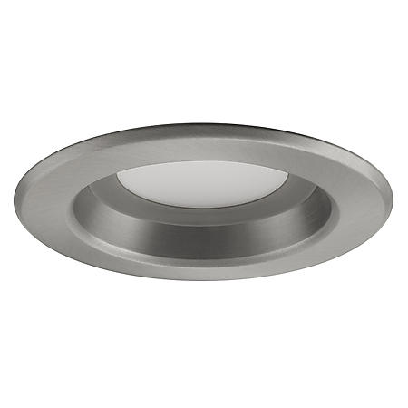 "Nicor 4"" Nickel LED 4000K Dimmable Recessed Retrofit Downlight Kit"