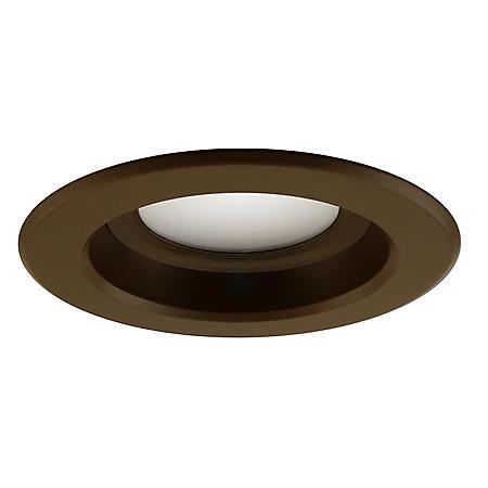 "Nicor 4"" Bronze LED 4000K Dimmable Recessed Retrofit Downlight Kit"