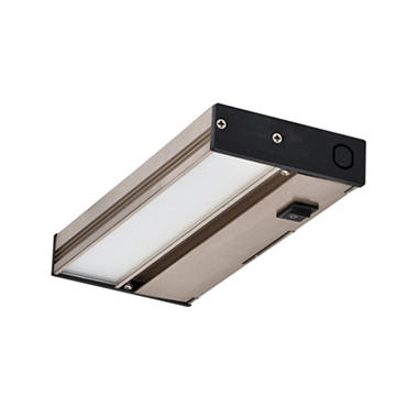 NICOR Slim Nickel Dimmable LED Under Cabinet Lighting Fixture