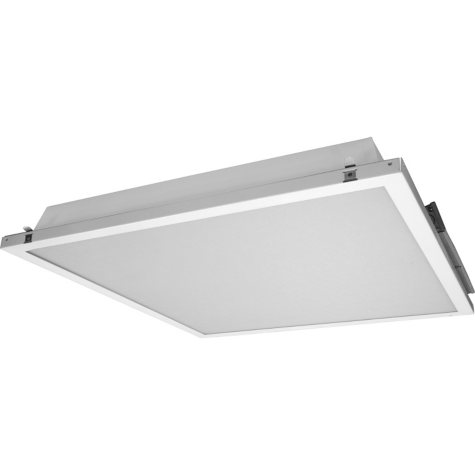 NICOR 2 x 2 ft White Dimmable LED Ceiling Troffer with Preinstalled Driver
