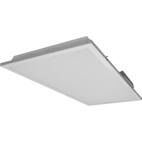 NICOR 2' x 4' White Dimmable LED Ceiling Troffer with Preinstalled Driver