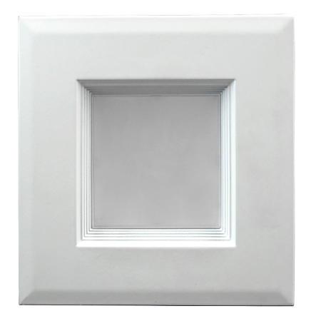 """NICOR 4"""" White Dimmable Square LED Downlight Retrofit Kit"""