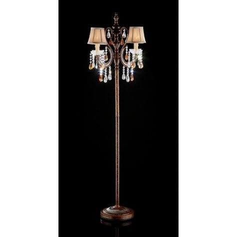 "Chandelier-Style 64"" H Floor Lamp"