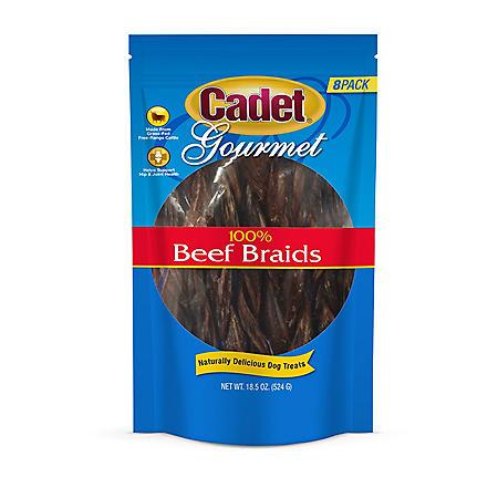 Cadet 100% Grass Fed Beef Braids Dog Treats (18.5 oz.)